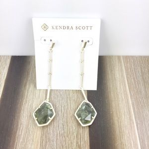 Kendra Scott Charmian sage mica gold earrings